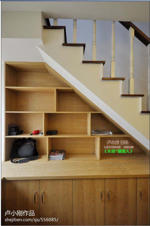 实木楼梯柜装修效果图