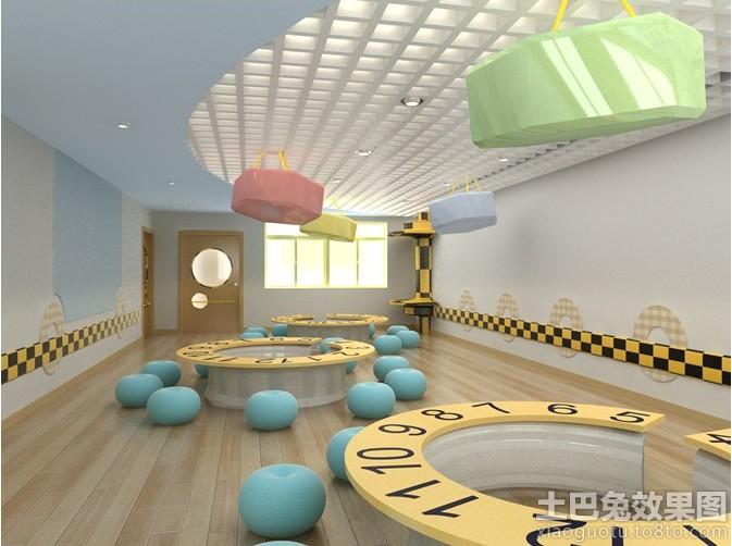 幼儿园教室地板装修效果图