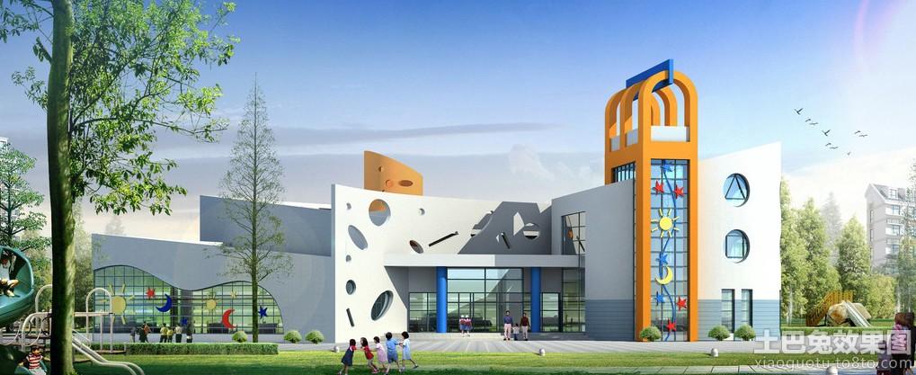 大型幼儿园大门装修设计效果图