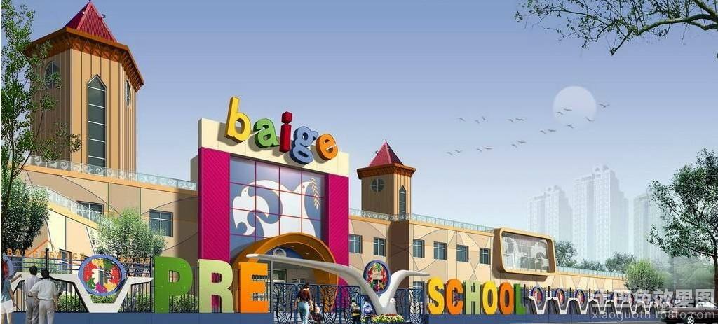 大型幼儿园大门装修效果图片