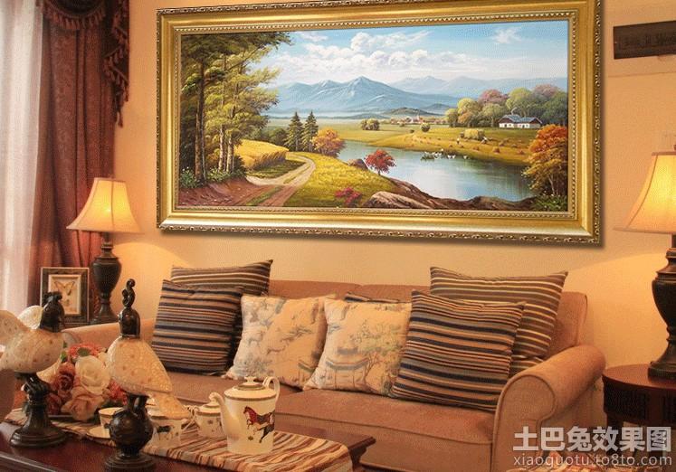 客厅手绘风景装饰画图片大全