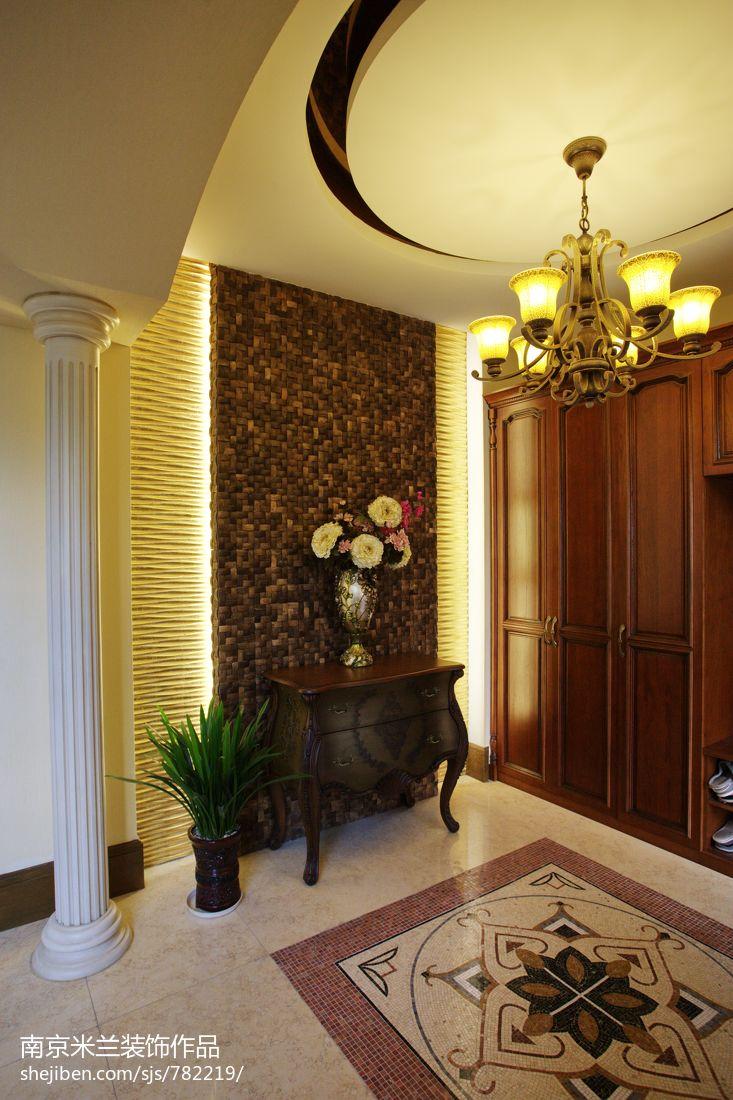 过道装饰柜背景墙装修效果图高清图片