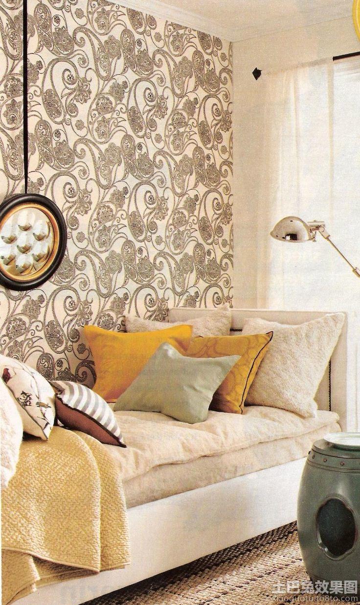 客厅欧式大花墙纸贴图欣赏