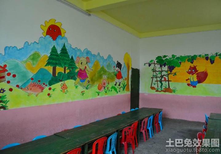 幼儿园教室墙面装饰图片