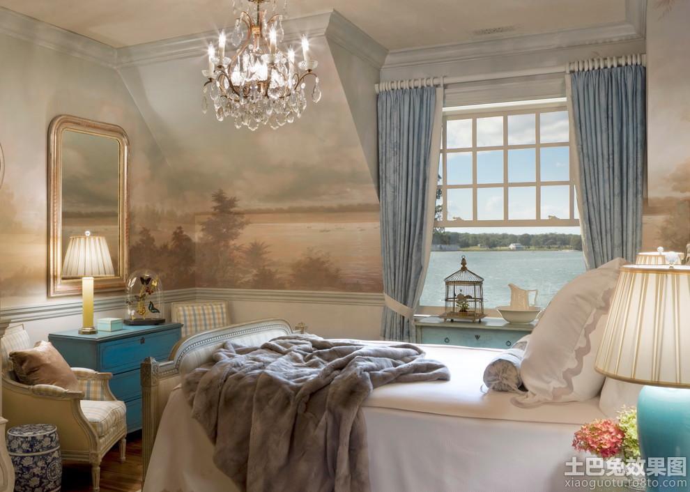 小卧室欧式壁画图片 图片