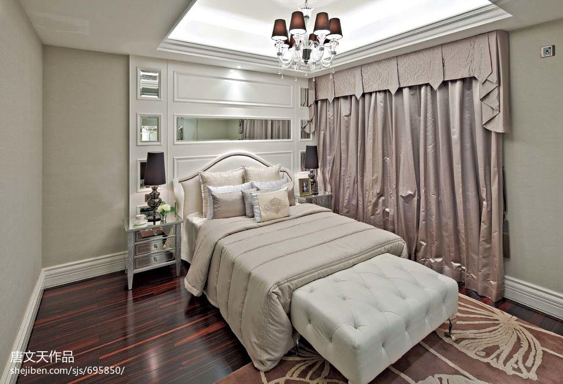 欧式现代风格卧室吊顶效果图