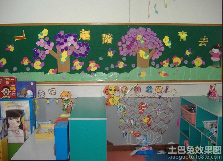 幼儿园教师手工壁画图片