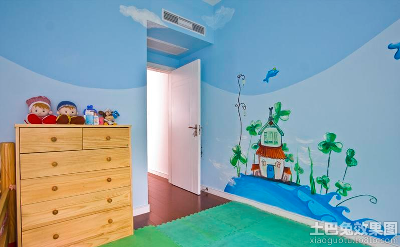 儿童房墙体彩绘图片