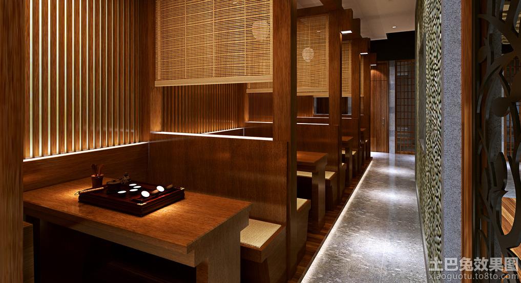 中式风格茶楼卡座设计效果图高清图片
