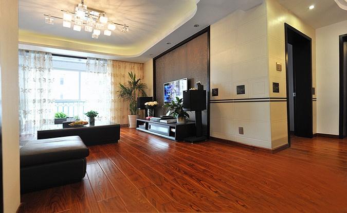 现代风格客厅木地板装修效果图片大全