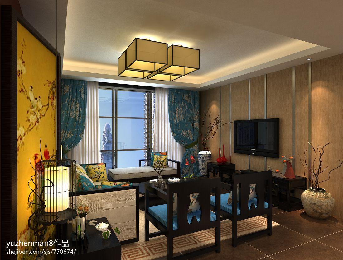 新中式风格设计客厅电视背景墙