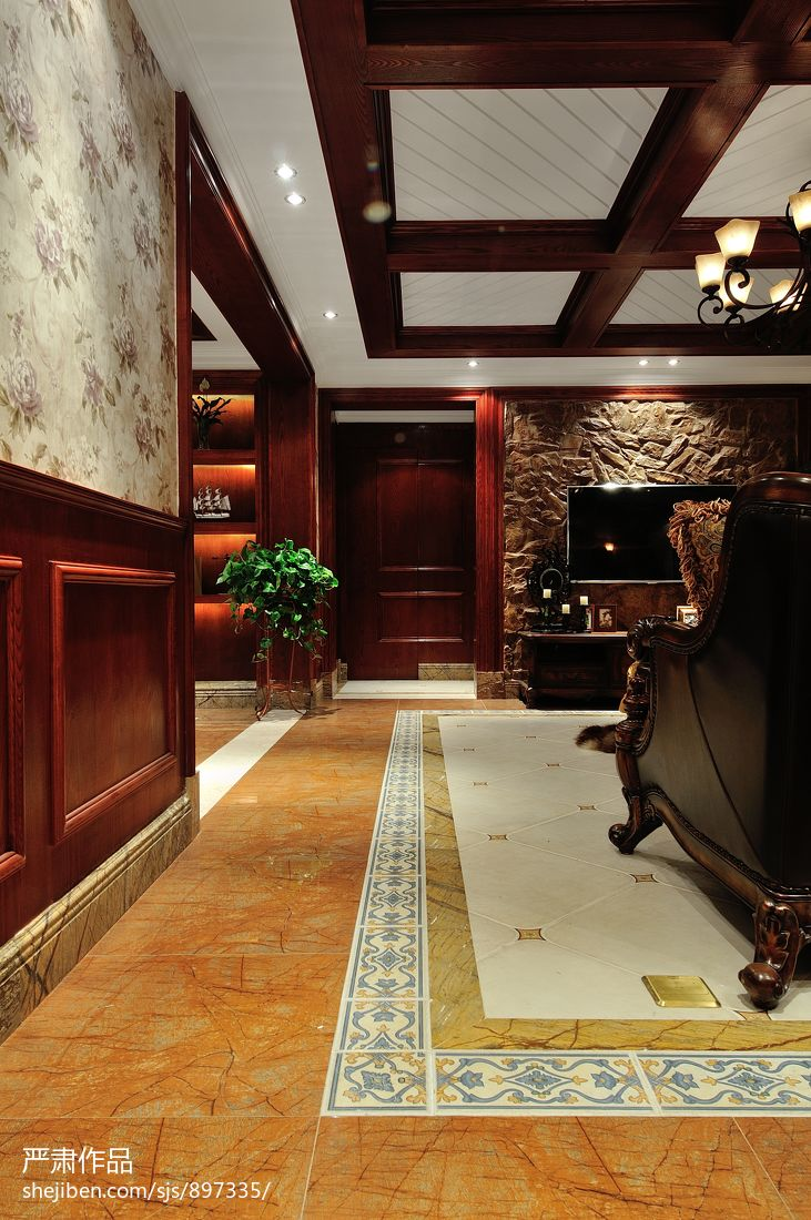客厅过道地砖装修效果图高清图片