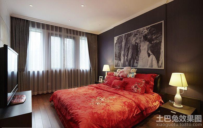 现代婚房卧室装修效果图欣赏高清图片