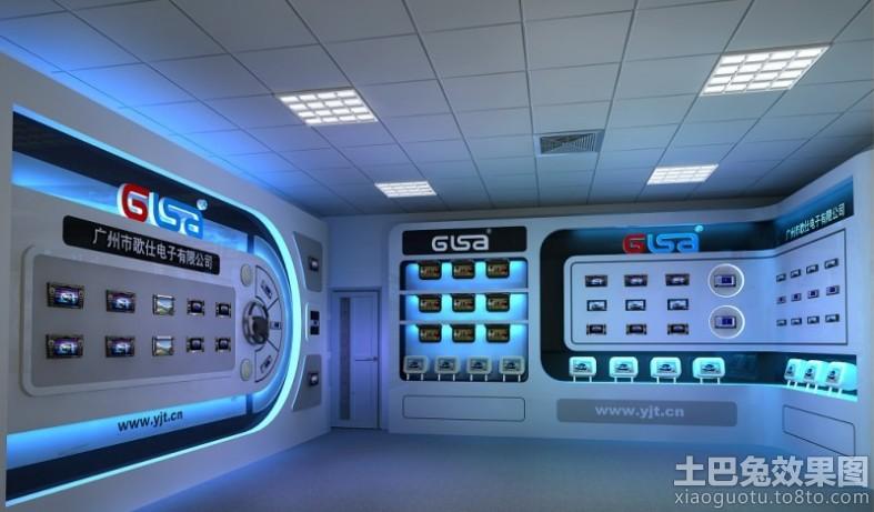 电子产品展厅布置效果图