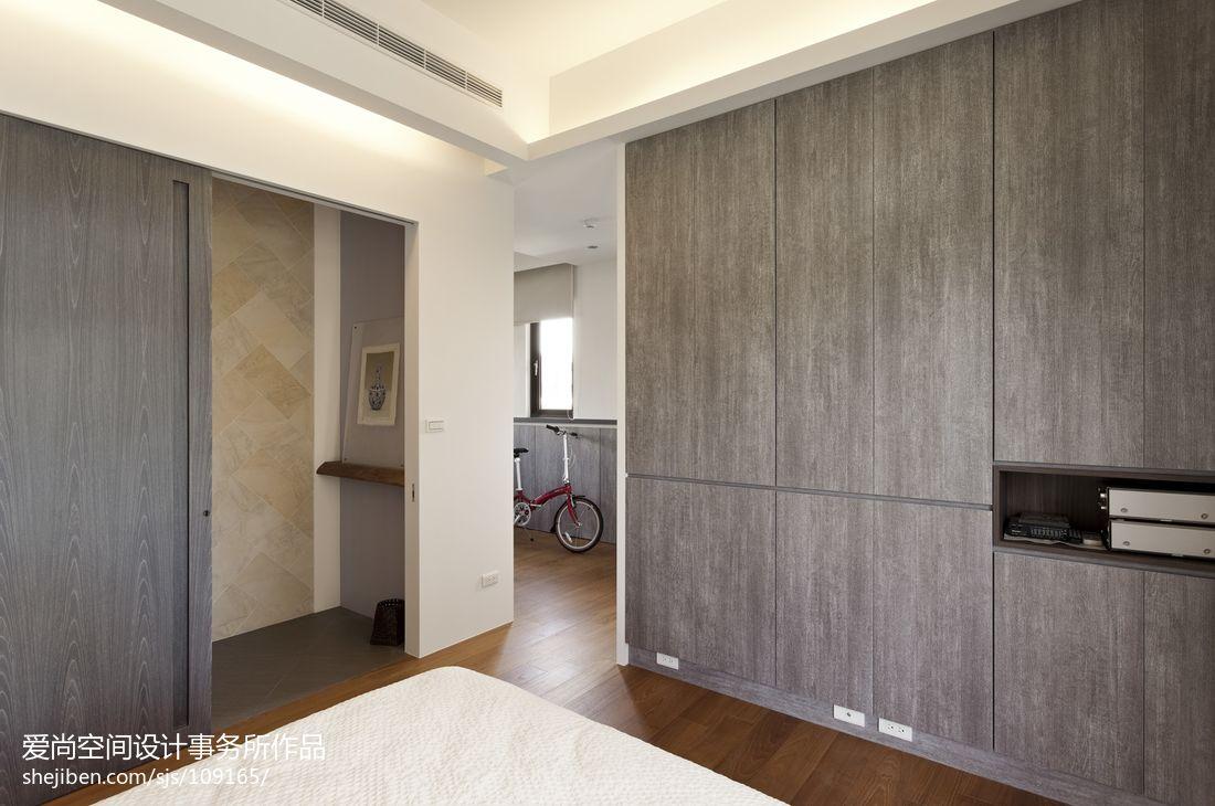 现代简约风格卧室木衣柜图片图片