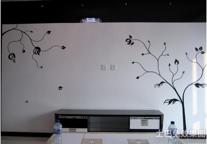 电视背景墙墙绘图案