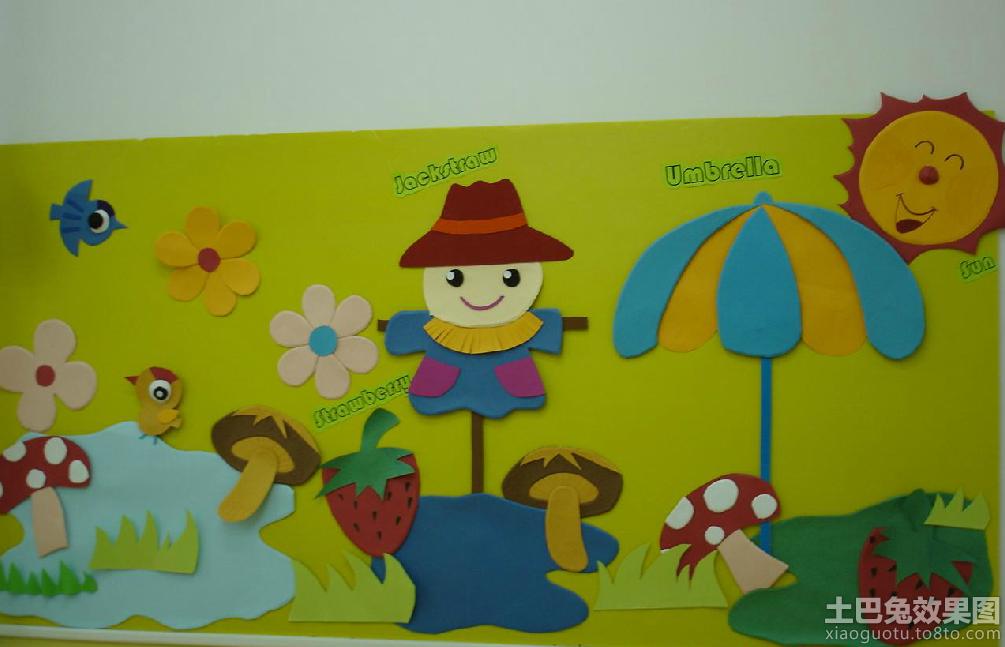 幼儿园中班墙面布置图