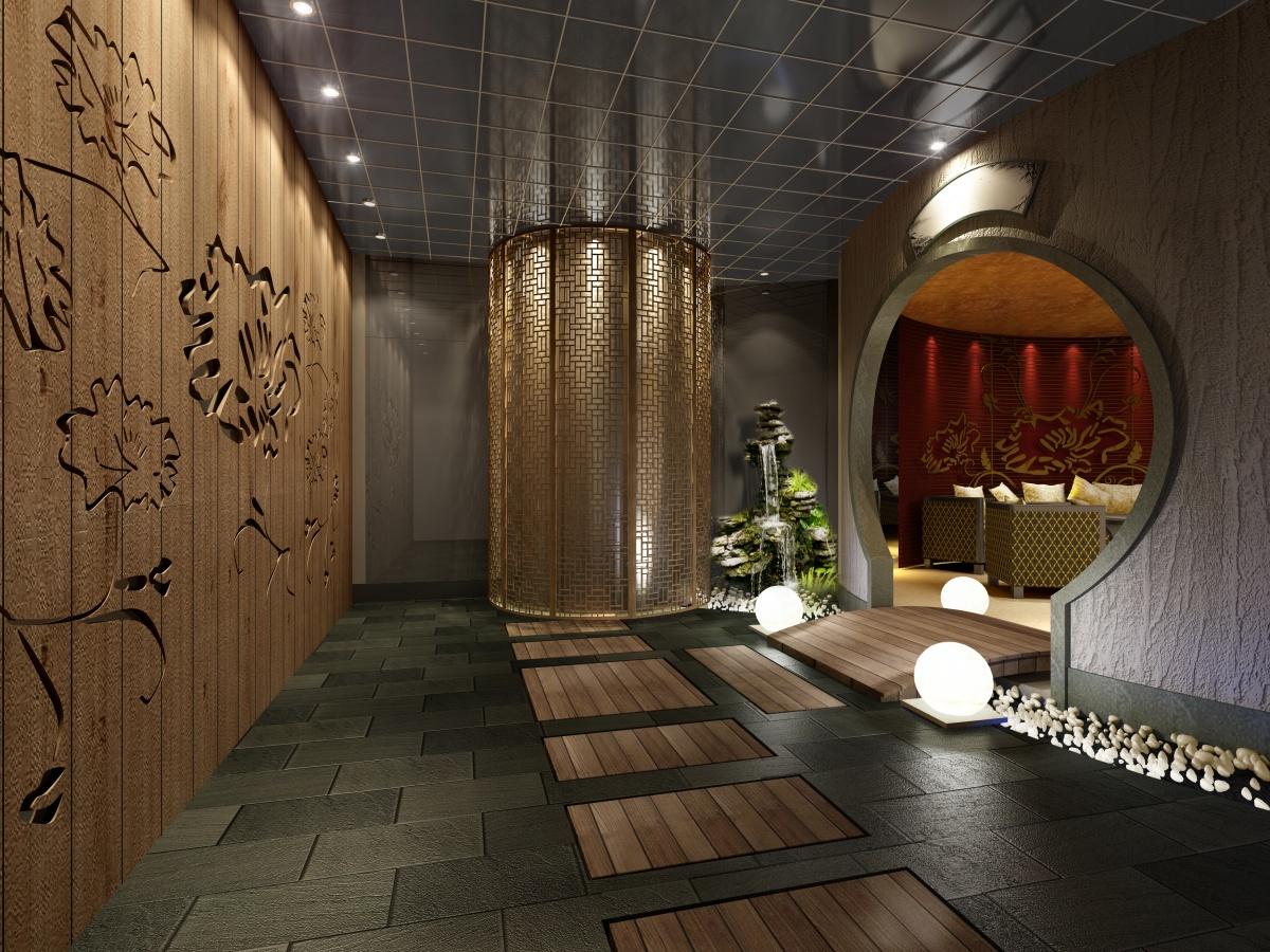 中式酒店包间装修效果图高清图片