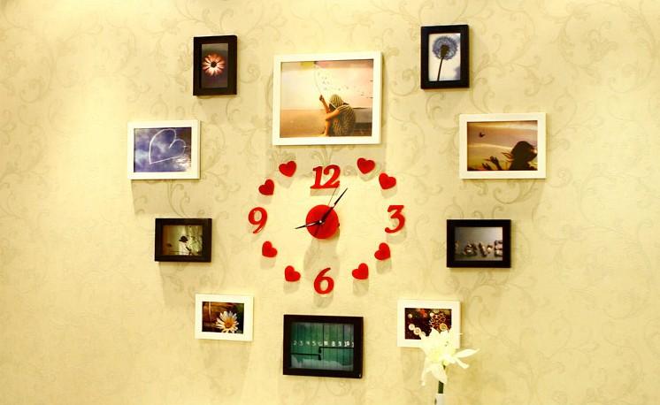心形照片墙装修效果图 - 九正家居装修效果图