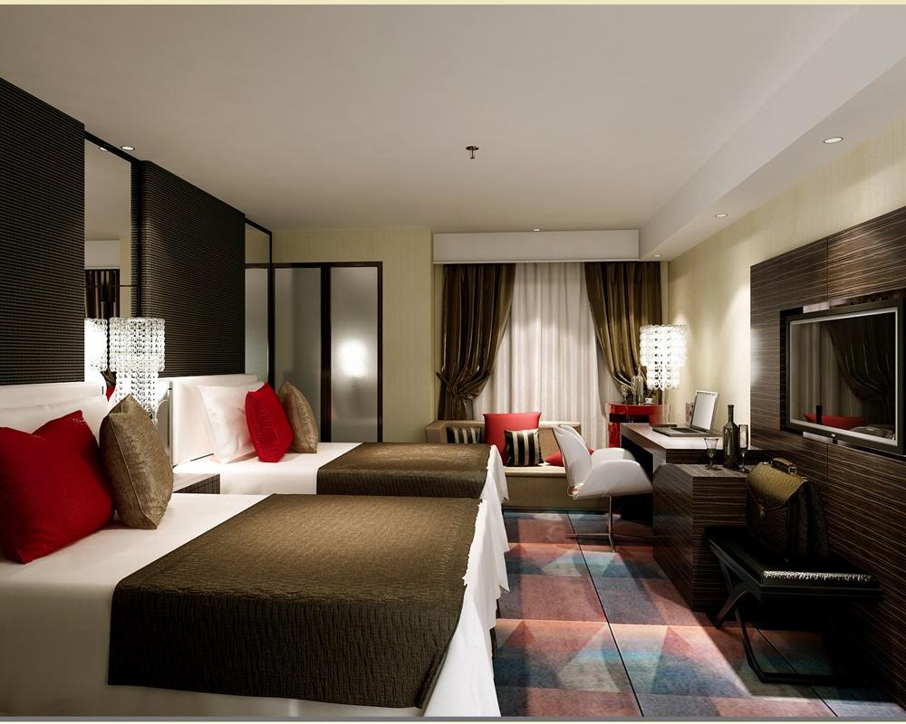 酒店房间设计图 - 装修效果图 - 九正家居网