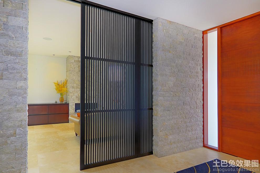 客厅玄关屏风隔断装修效果图