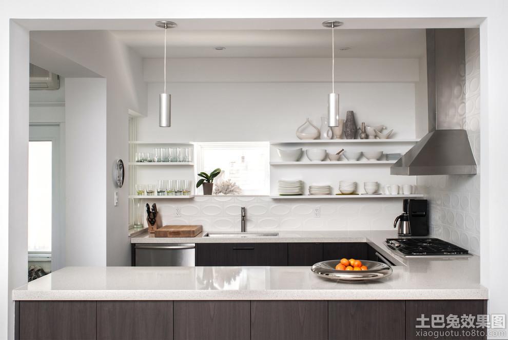 2013小厨房吧台装修效果图