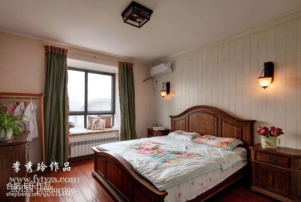 卧室飘窗论+�_卧室飘窗窗帘效果图片欣赏