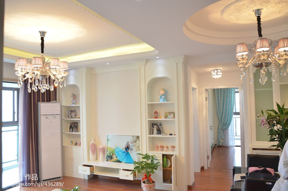 欧式客厅餐厅吊顶灯效果图 - 九正家居装修效果图图片