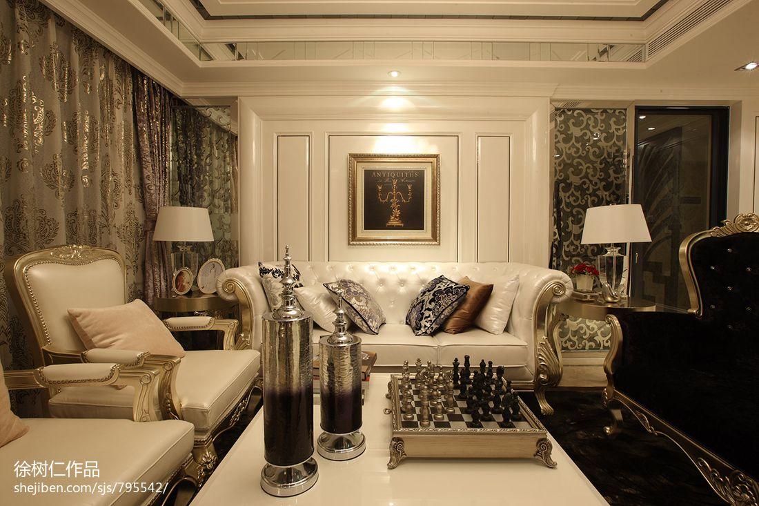 欧式客厅沙发背景墙图片