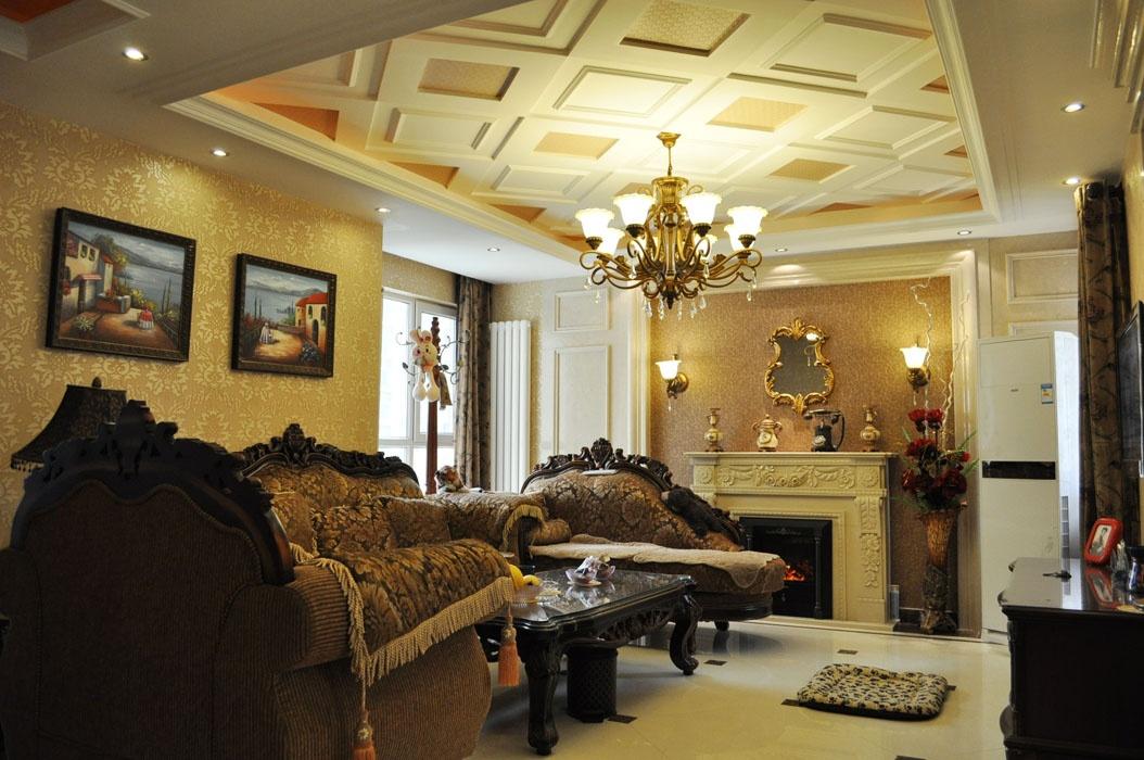 美式客厅吊顶装修效果图大全2013图片图片