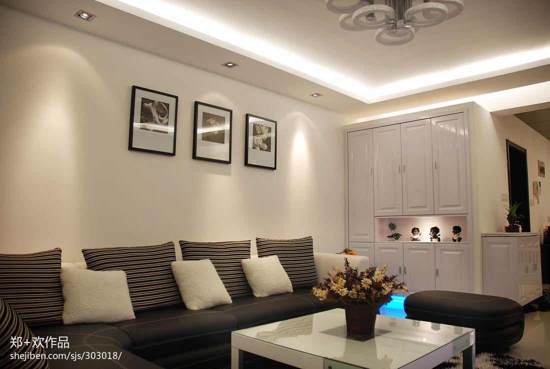 现代风格客厅沙发照片墙效果图大全图片