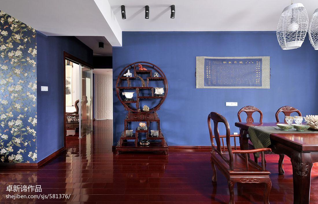 中式餐厅背景墙效果图欣赏高清图片