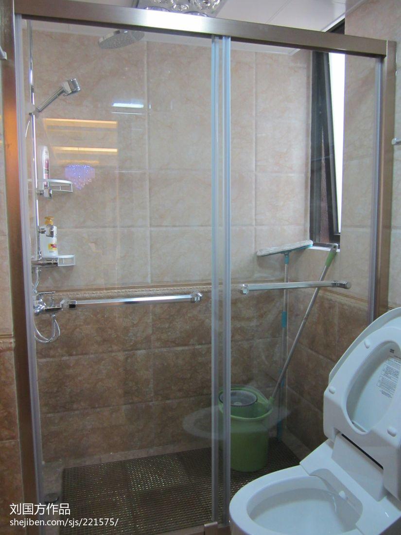 干湿分离卫生间玻璃门隔断图片