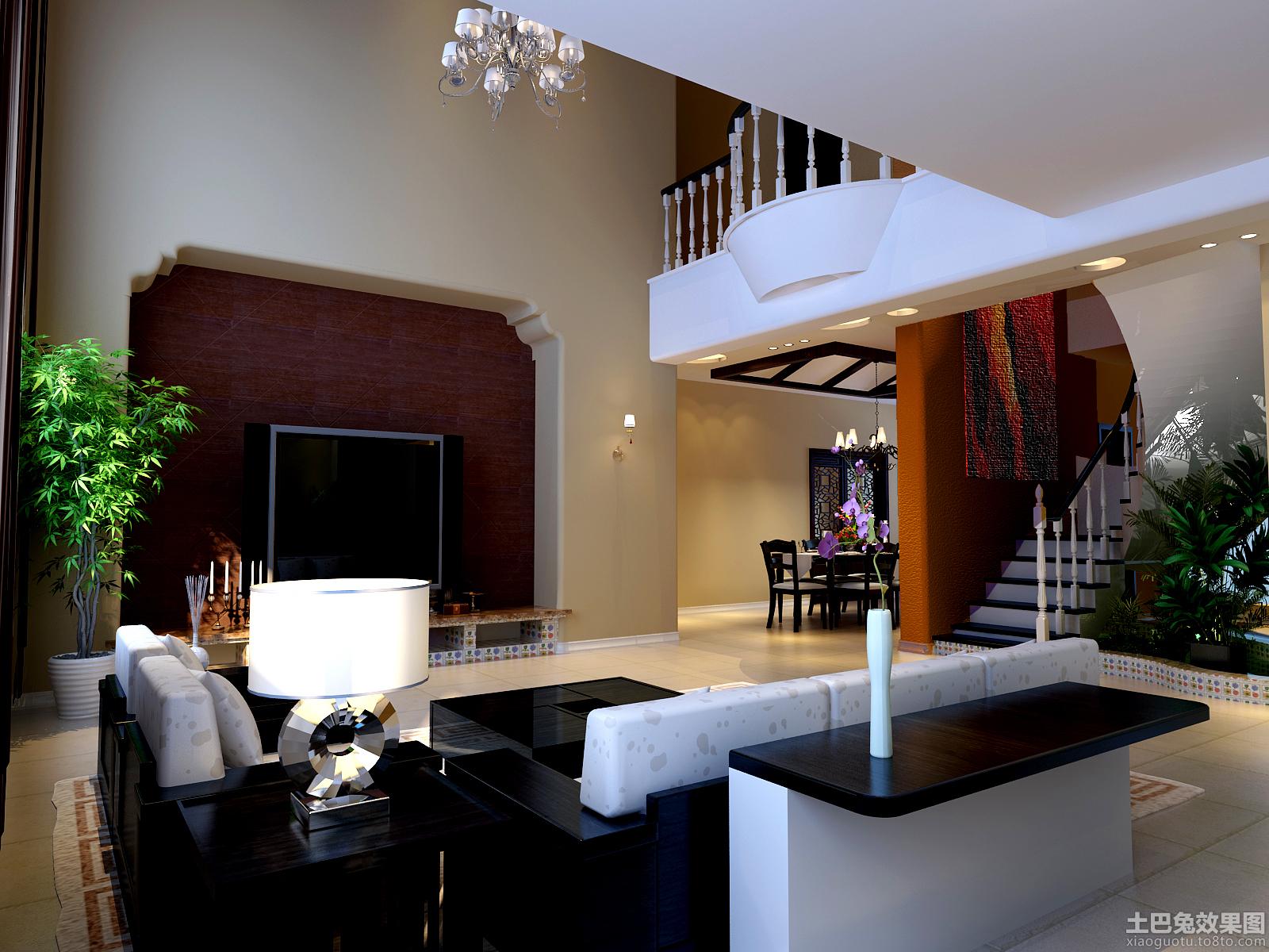 复式楼大客厅装修设计效果图图片