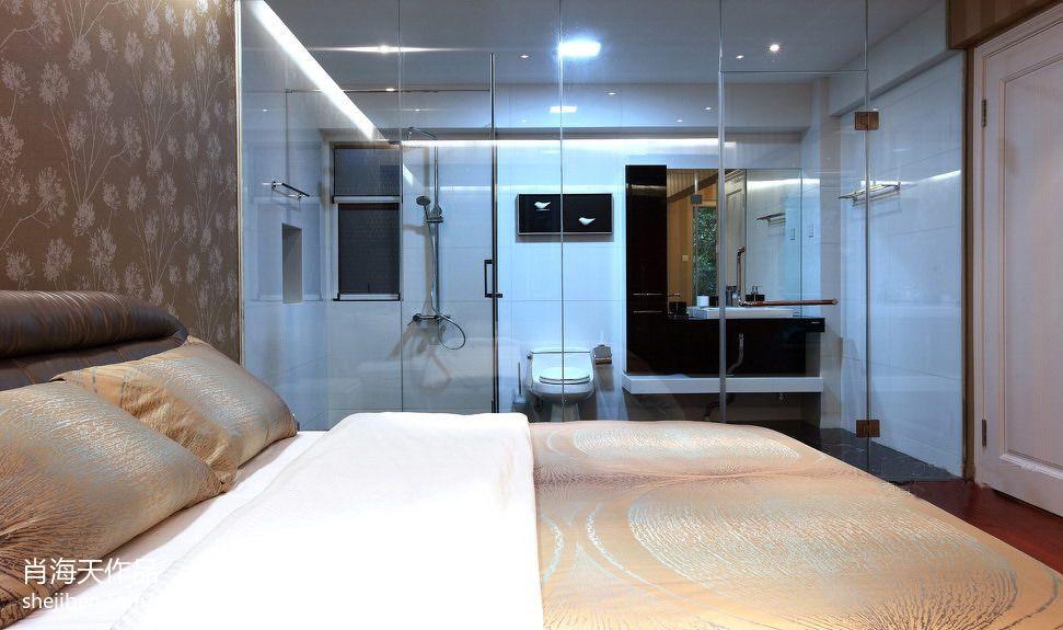 房间卫生间隔断无隔断卫生间图片4