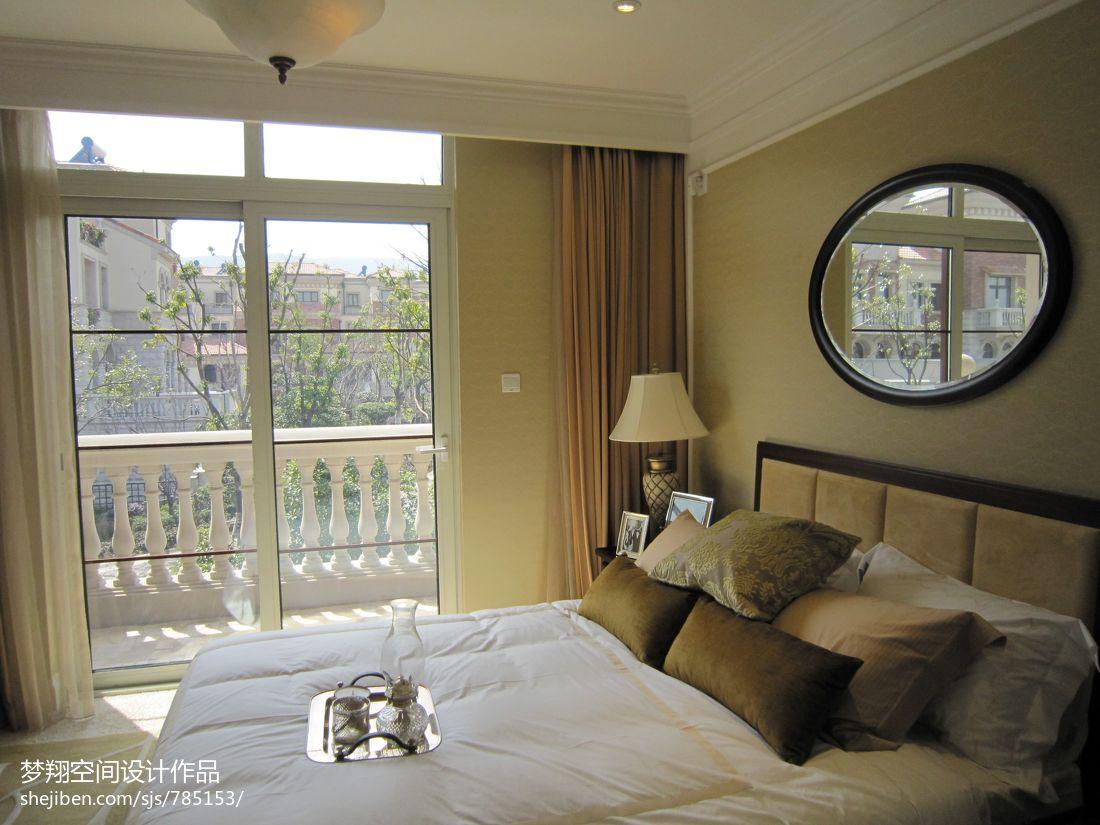 欧式风格卧室阳台隔断效果图欣赏图片
