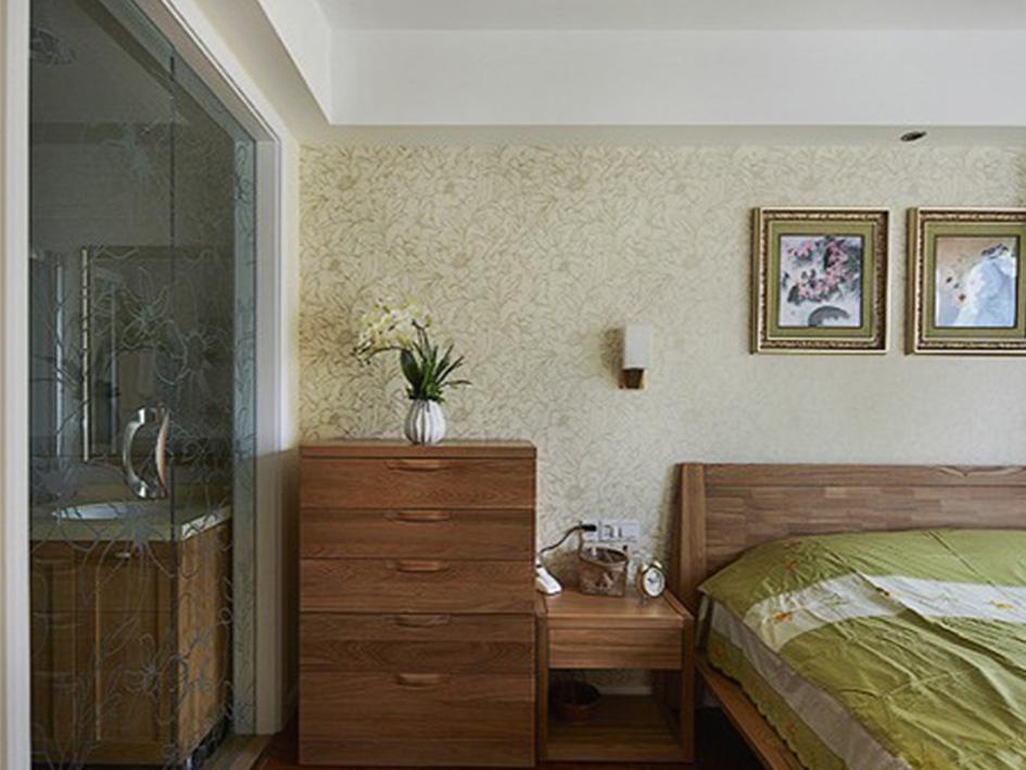 简约中式主卧室装修效果图图片