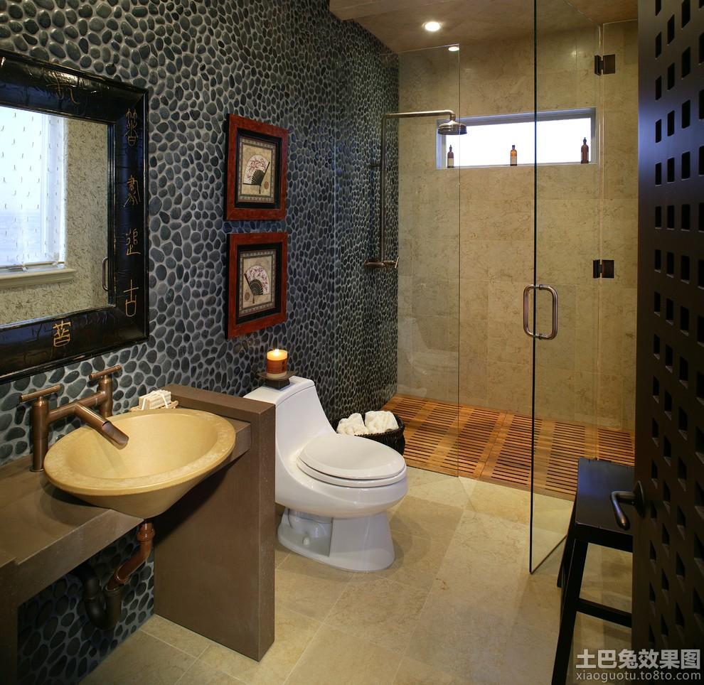 现代长方形卫生间装修效果图