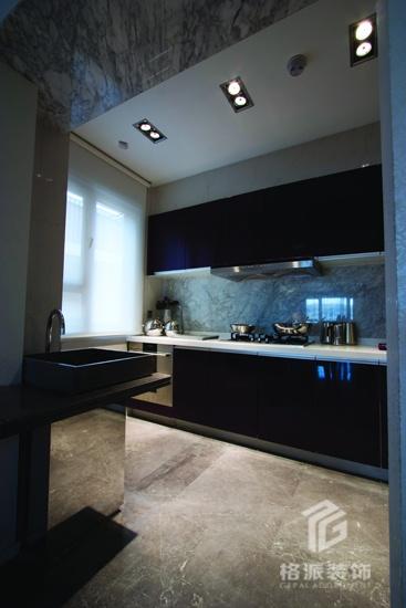 现代风格半开放式厨房装修效果图图片