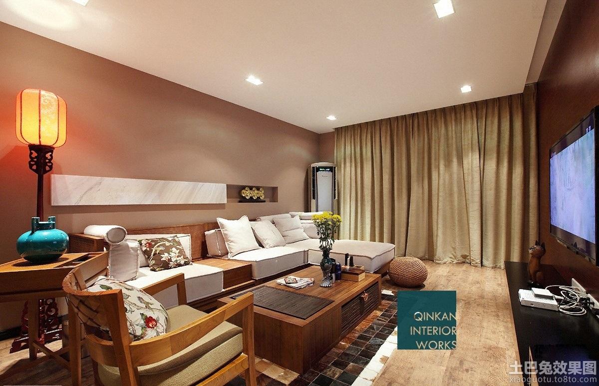 简中式客厅装修效果图大全2013图片欣赏