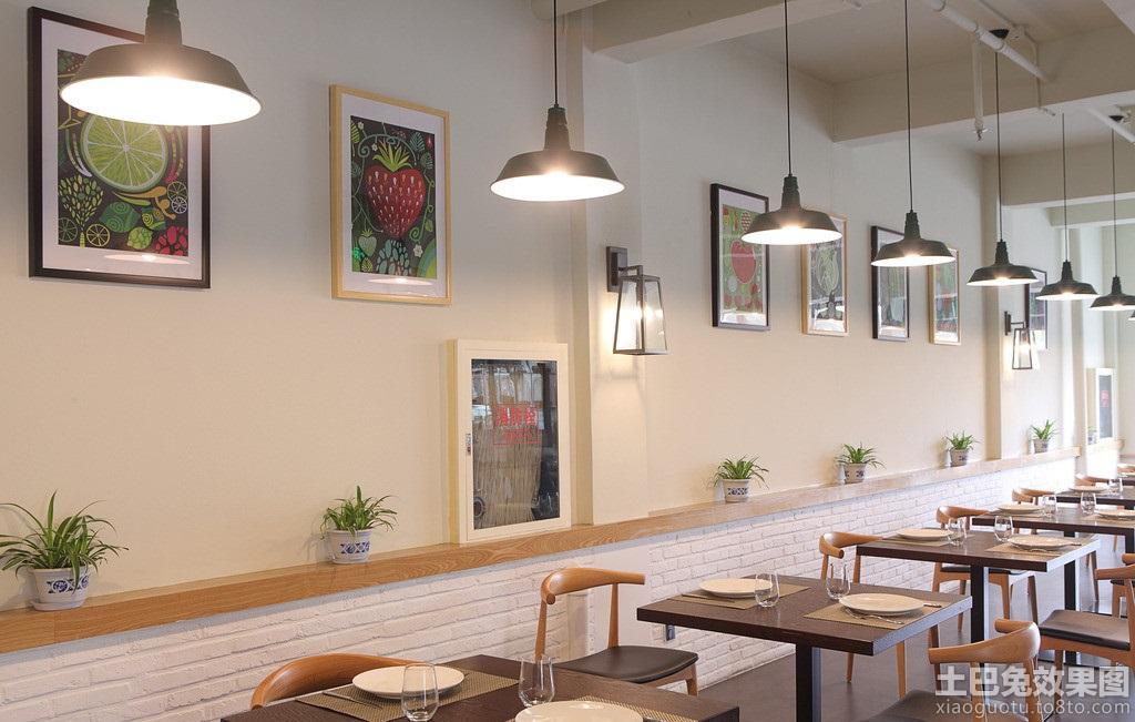 简约餐馆墙面设计图 - 装修效果图 - 九正家居网
