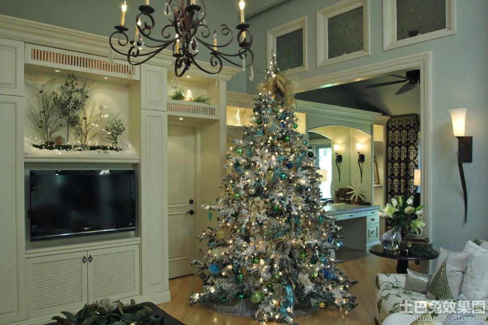 银色圣诞树装饰图片 - 装修效果图 - 九正家居网
