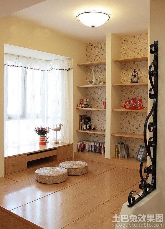 飘窗设计成书桌效果图高清图片