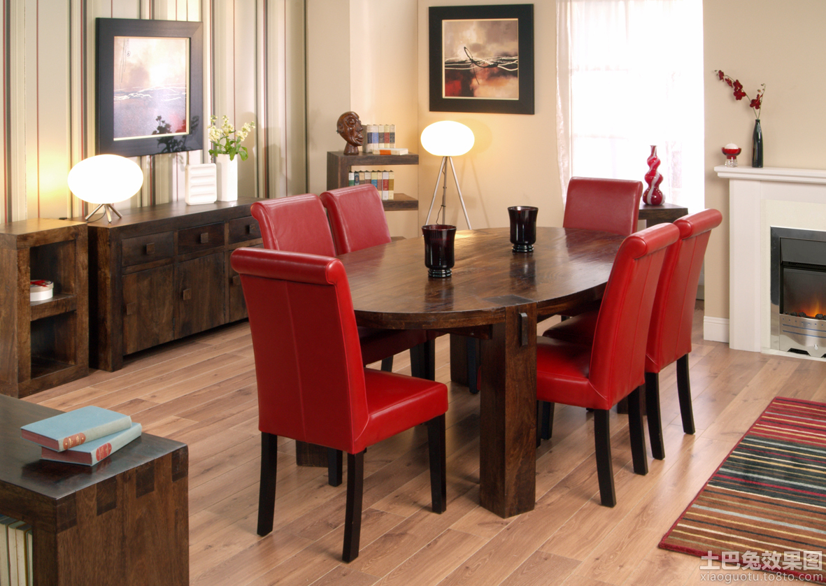 家装实木餐桌图片大全