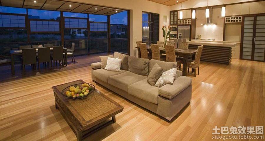 别墅木地板装修效果图木地板简洁装修图片1