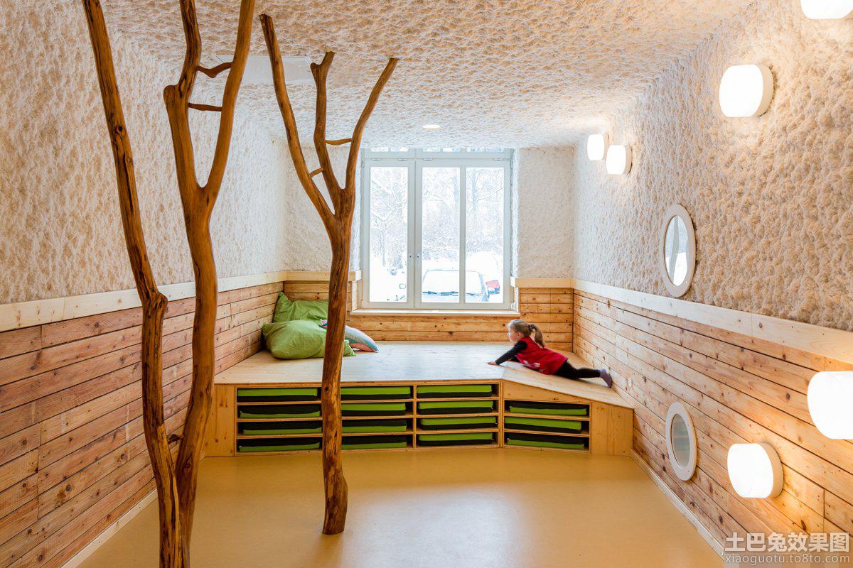 原木幼儿园教室布置图片欣赏 - 装修效果图 - 九正