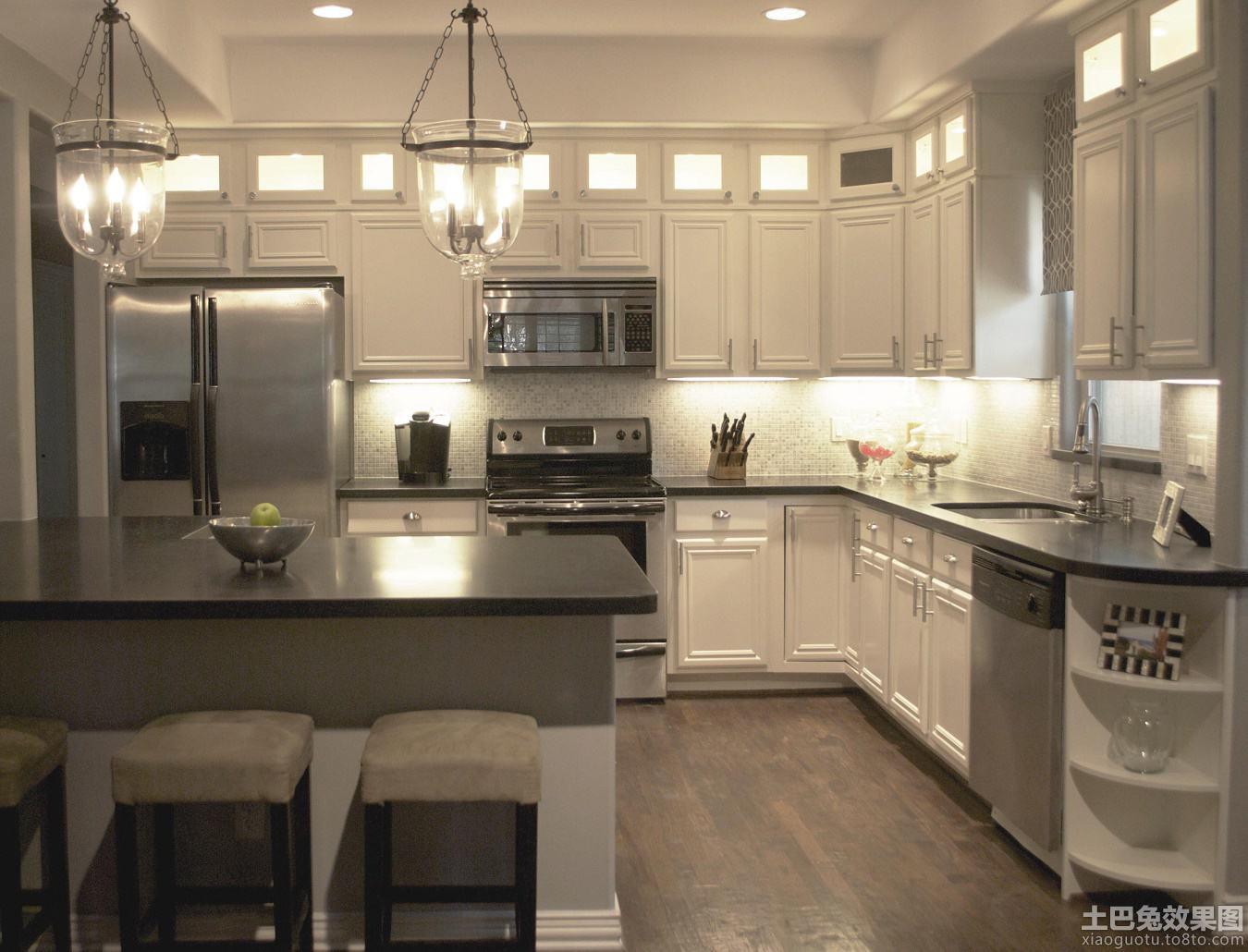 简欧整体厨房装修效果图图片