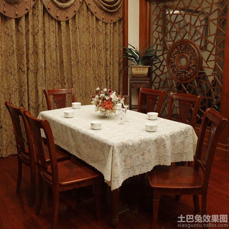 中式餐厅餐桌布图片图片