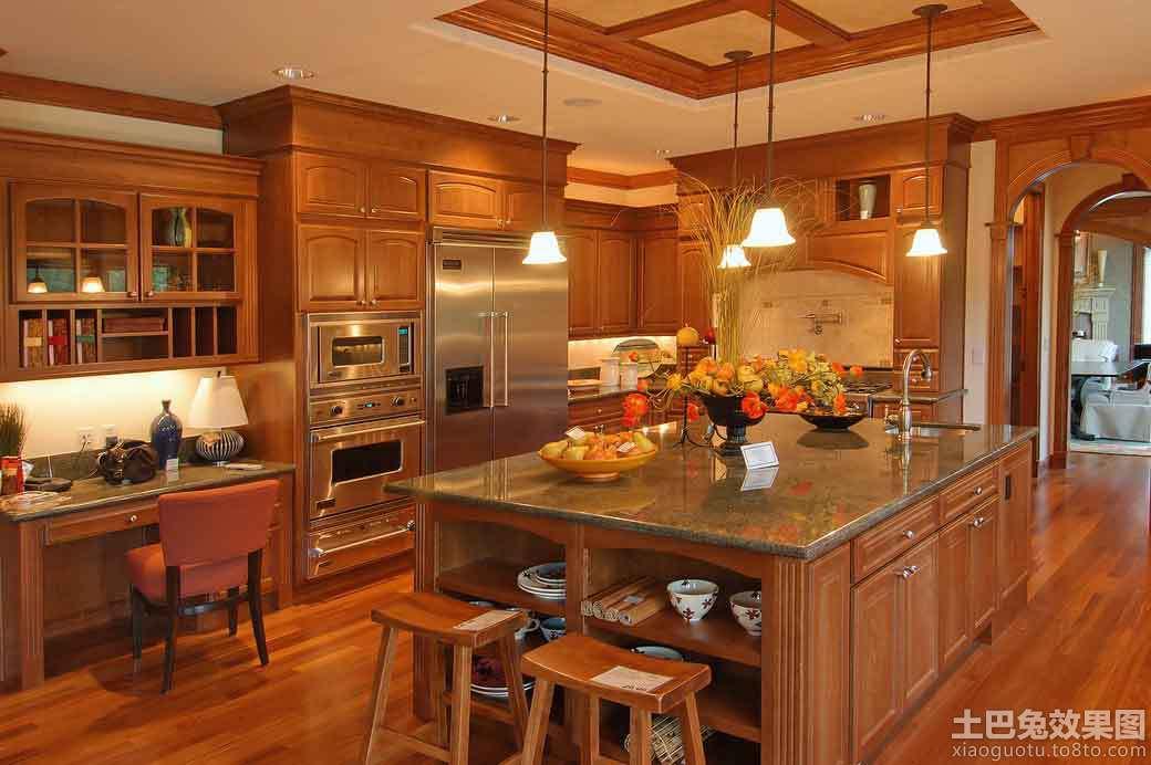 实木厨房装修效果图 - 装修效果图 - 九正家居网