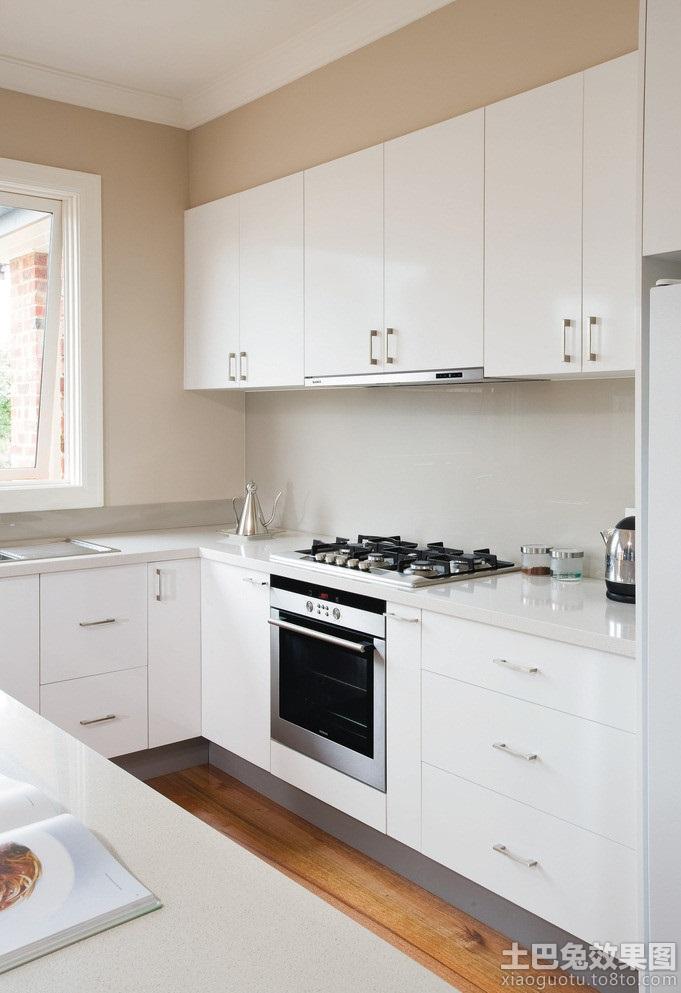 简约整体厨房灶台装修效果图高清图片